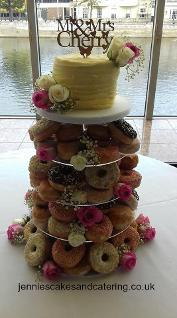 Doughnut wedding tower